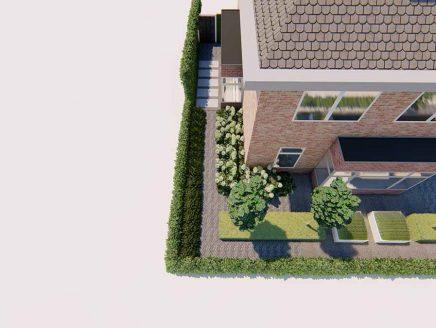 vrijstaande 3d ontwerp woning